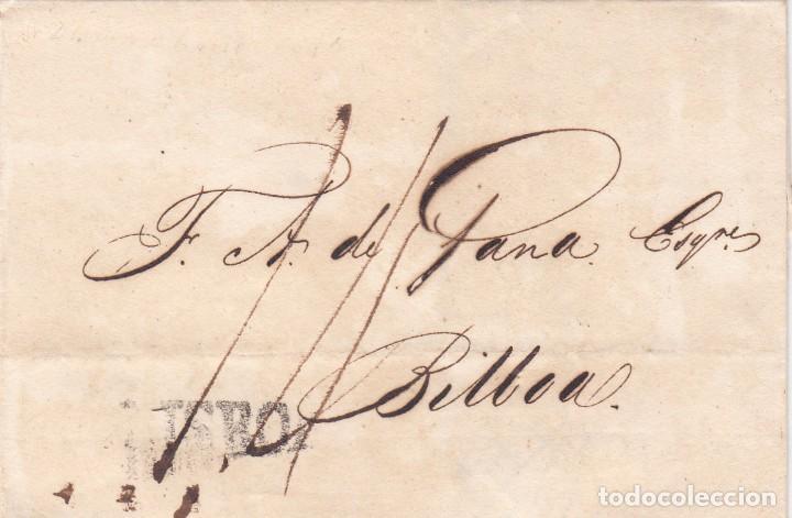CARTA: 1815 LISBOA - BILBAO (Filatelia - Sellos - Prefilatelia)