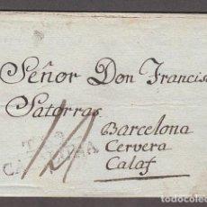 Sellos: CARTA DP.5 -TARRAGONA A CALAF (31 DICIEMBRE 1804) PE.11 - CARTA DP.5 -TARRAGONA A CALAF (31 DICIEMBR. Lote 104195268