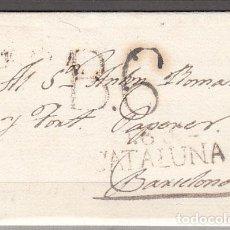 Sellos: CARTA DP.5 - TARRAGONA A BARCELONA (JUNIO 1817) PE.13 PORTEO B.6 EN NEGRO - CARTA DP.5 - TARRAGONA A. Lote 104195272