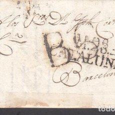 Sellos: CARTA DP.5 - MASOS DE MORA A BARCELONA (28 AGOSTO 1818) PE.3 Y PORTEO B.6 EN NEG - CARTA DP.5 - MASO. Lote 104195442