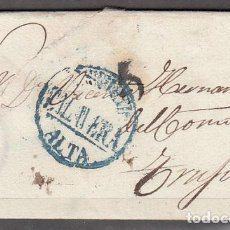 Sellos: CARTA DP.12 - TALAVERA A TRUJILLO 1841, PE.8 EN AZUL. LUJO - CARTA DP.12 - TALAVERA A TRUJILLO 1841,. Lote 104195470