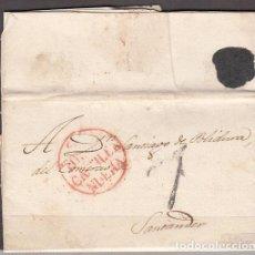 Sellos: CARTA DP.4 - ZARAGOZA A STA. MARÍA DE OLORON EN 1830 CON MARCAS Zª/FRANCO Y ESPA - CARTA DP.4 - ZARA. Lote 104195478