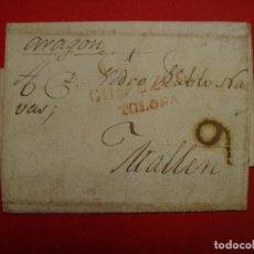 Sellos: PREFILATELIA. CARTA DE TOLOSA, ENVIADA A MALLEN. 16 DE FEBRERO 1835. 9 . F3. Lote 104310439