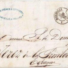 Sellos: PREFILATELIA. CARTA ENTERA DE MARSELLA A JEREZ DE LA FRONTERA. CÁDIZ. 1861. TRÁNSITO LA JUNQUERA. Lote 108386635