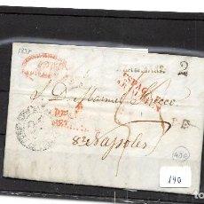 Sellos: 1837.- CARTA DEL MINISTERIO DE ESTADO AL ENCARGADO DEL CONSULADO DE ESPAÑA EN PALERMO SOBRE LAS CUEN. Lote 109527939