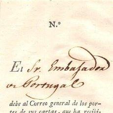 Sellos: 1820.- RESGUARDO DEL PAGO MENSUAL DE UN APARTADO EN MADRID. Lote 109528743