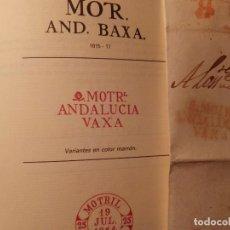Sellos: MOTRIL ANDALUCÍA BAJA - ENVUELTA COMPLETA - RARA FECHA 1819 ANTERIOR DE SER CATALOGADA. Lote 110890343