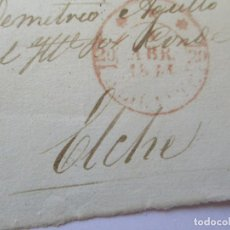 Sellos: FRONTAL DE CARTA O SOBRE - FECHADOR ALICANTE 1844?(NO SE DISTINGUE BIEN). Lote 112037031