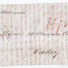 Sellos: CARTA ENTERA DE LIVERPOOL A CÁDIZ. 1842. VÍA FALMOUTH. CORREO MARÍTIMO.. Lote 112621395
