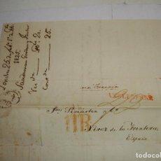 Selos: PREFILATELIA. CARTA MANUSCRITA. DE LONDRES A JEREZ DE LA FRONTERA, VIA FRANCIA. 1825. Lote 115721343