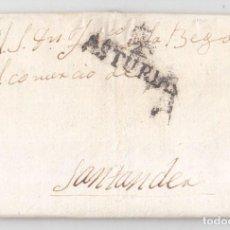 Sellos: PREFILATELIA. CARTA ENTERA DE OVIEDO. ASTURIAS A SANTANDER. 1829. Lote 116340651