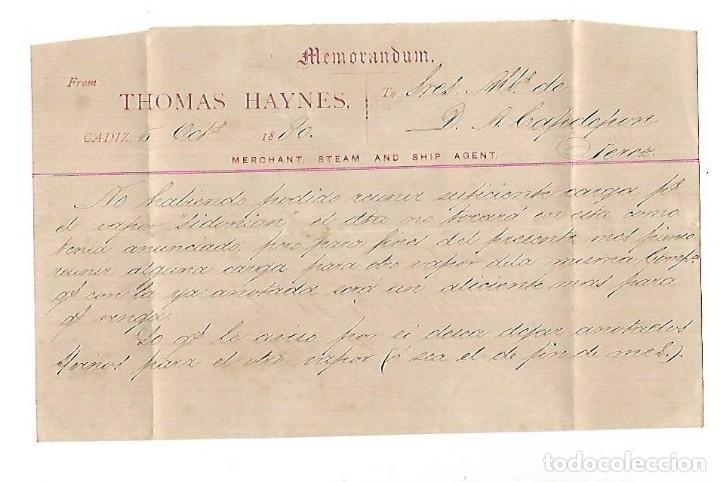 Sellos: COSARIO. RICARDO DIAZ. CADIZ - JEREZ. 1880. VER IMAGEN - Foto 2 - 116431215