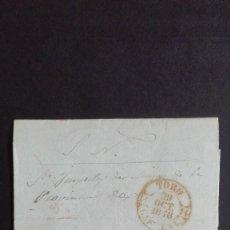 Sellos: PREFILATELIA TORO - ZAMORA 1848 FECHADOR CASTILLA LA VIEJA.. Lote 118230715