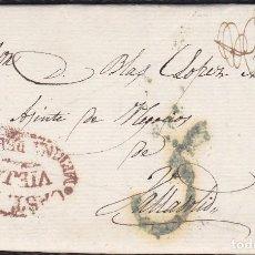 Selos: 1841. MEDINA DEL CAMPO A VALLADOLID. MARCA Nº7 EN ROJO. MUY INTERESANTE Y BONITA CARTA.. Lote 118995343