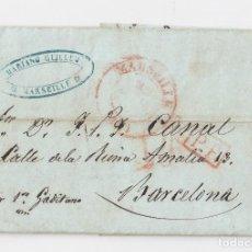 Sellos: PREFILATELIA. CARTA ENTERA DE MARSELLA A BARCELONA. POR EL VAPOR GADITANO. 1848. Lote 120561239