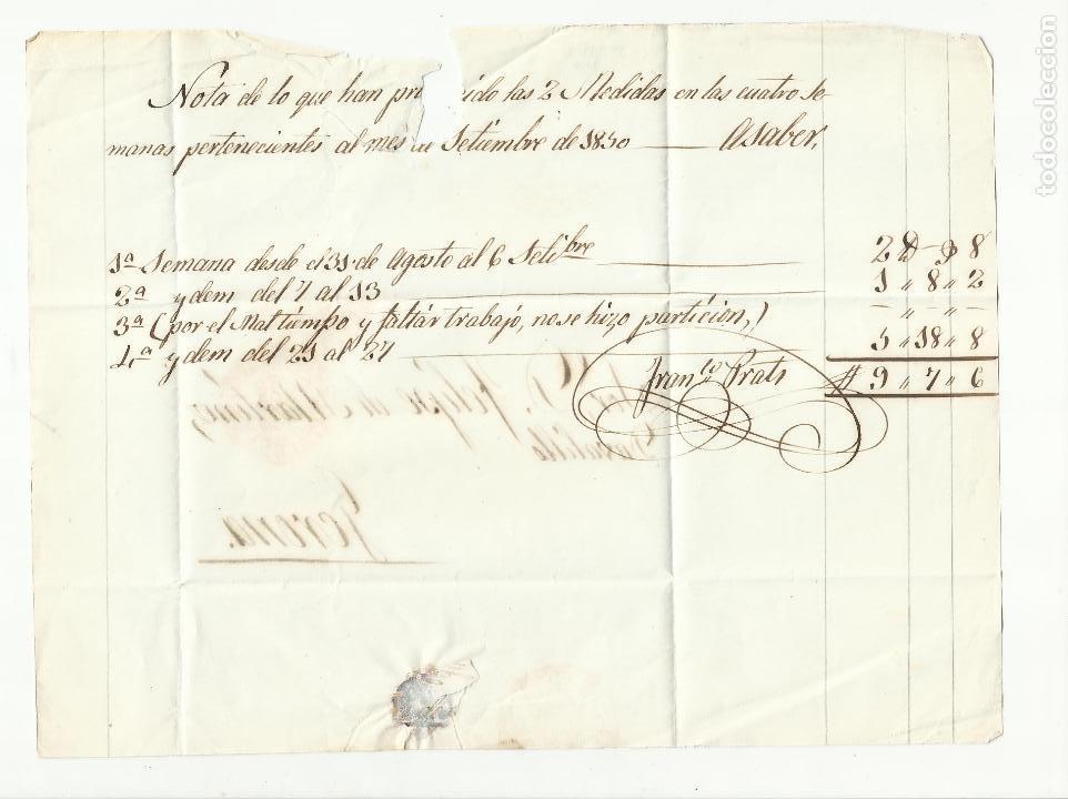 Sellos: circulada y escrita 1850 de barcelona a gerona - Foto 2 - 120954743