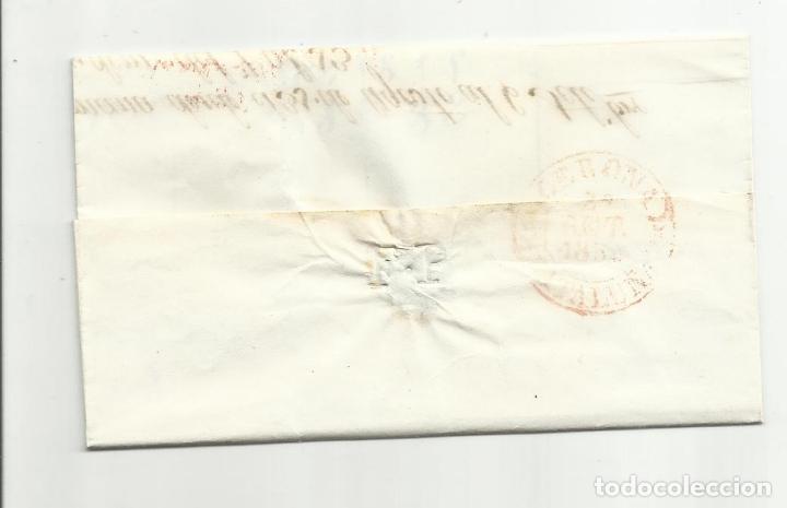 Sellos: circulada y escrita 1850 de barcelona a gerona - Foto 3 - 120954743