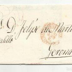 Sellos: CIRCULADA Y ESCRITA 1847 DE BARCELONA A GERONA. Lote 120955331