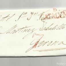 Sellos: CIRCULADA Y ESCRITA 1837 DE BARCELONA A GERONA GIRONA. Lote 120957235