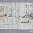 Sellos: 1853. CARTA DE LIVERPOOL A SEVILLA. Lote 122557439