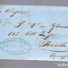 Sellos: 1857. CARTA DE MARSELLA A SEVILLA. Lote 122557499