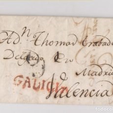 Sellos: PREFILATELIA. CARTA ENTERA DE BUENOS AIRES A VALENCIA. DEPOSITADA AL CORREO EN CORUÑA. GALICIA. 1791. Lote 123041575