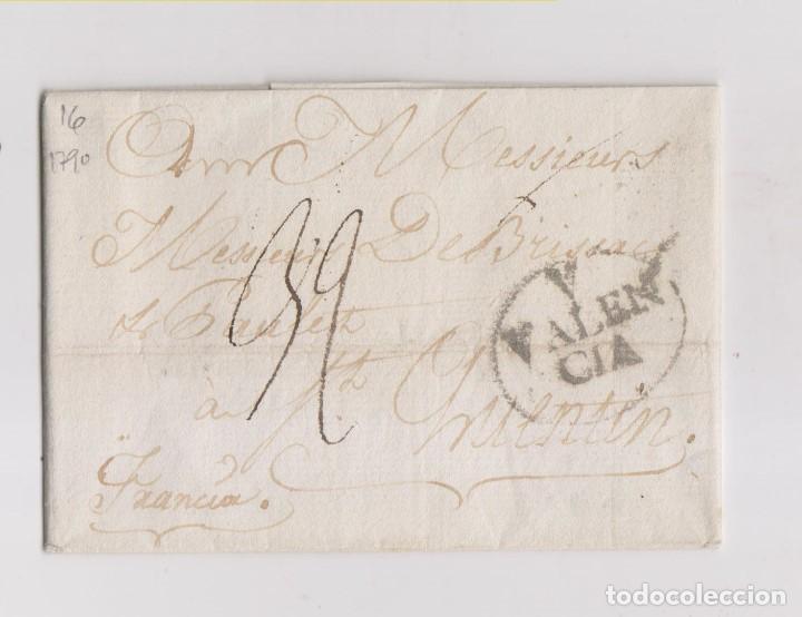 PREFILATELIA. ENVUELTA DE VALENCIA A FRANCIA. 1790 (Filatelia - Sellos - Prefilatelia)