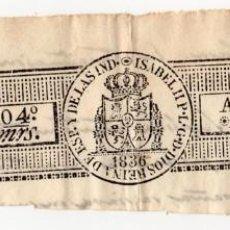 Sellos: SELLO 4º 40 MRS. ISABEL II - AÑO DE 1838. Lote 128828219