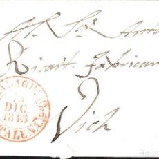 Sellos: PREFILATELIA - CARTA COMPLETA DE BALAGUER A VIC MARCA NUM. 6 -1845-. Lote 131938382