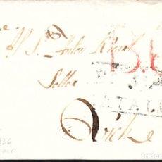 Sellos: PREFILATELIA - CARTA COMPLETA DE BALAGUER A VIC MARCA NUM. 5 -1836- PORTEO B6. Lote 131939010