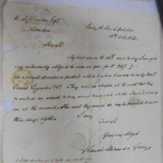 Sellos: CARTA DE PARIS A LONDRES. 1853. VER. MANUSCRITA. Lote 132999426