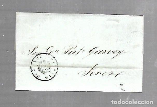 COSARIO. COMPAÑIA DEL SOL. DE CADIZ A JEREZ. 1845 (Filatelia - Sellos - Prefilatelia)