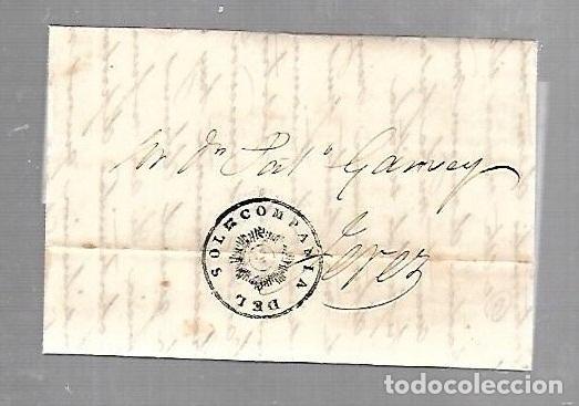COSARIO. COMPAÑIA DEL SOL. DE CADIZ A JEREZ. 1844 (Filatelia - Sellos - Prefilatelia)