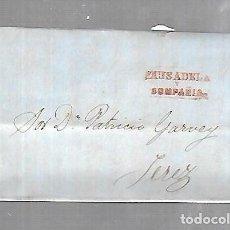 Sellos: COSARIO. PAUSADELA Y COMPAÑIA. DE CADIZ A JEREZ. 1857. Lote 133804730