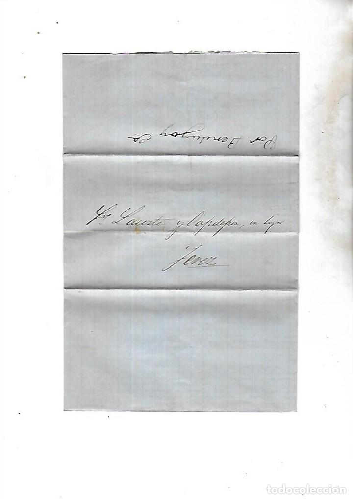 COSARIO. POR BERDUGO Y CIA. DE CADIZ A JEREZ. 1861. (Filatelia - Sellos - Prefilatelia)
