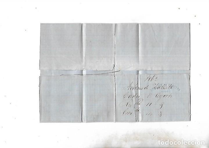 Sellos: COSARIO. POR BERDUGO Y CIA. DE CADIZ A JEREZ. 1861. - Foto 2 - 133805382