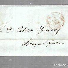 Sellos: PREFILATELIA. CARTA. DE CADIZ A JEREZ DE LA FRONTERA. 1846.. Lote 133807366