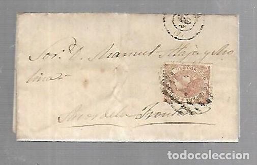 PREFILATELIA. CARTA. DE SEVILLA A ARCOS DE LA FRONTERA. 1868. (Filatelia - Sellos - Prefilatelia)