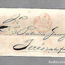 Sellos: PREFILATELIA. CARTA. DE CADIZ A JEREZ DE LA FRONTERA. 1848. Lote 133808266