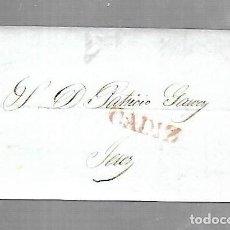 Sellos: PREFILATELIA. CARTA. DE CADIZ A JEREZ DE LA FRONTERA. 1842. Lote 133808322