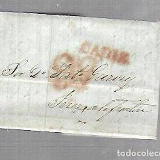 Sellos: PREFILATELIA. CARTA. DE CADIZ A JEREZ DE LA FRONTERA. 1836.. Lote 133809114