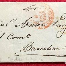 Sellos: CARTA PREFILATÉLICA A BARCELONA - 1848. Lote 134444530