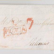 Sellos - PREFILATELIA. CARTA ENTERA DE LORCA. MURCIA A VALENCIA. 1821. MUY BONITA - 136016646