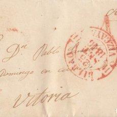 Sellos: PREFILATELIA. CARTA ENTERA ARRAMENDIAGA. VIZCAYA. PAÍS VASCO. BAEZA DE BILBAO (1846). Lote 136031502