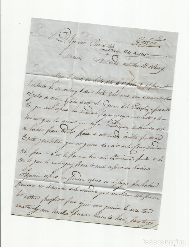 Sellos: circulada y escrita 1849 de santander a madrid marca baeza - Foto 2 - 137131438