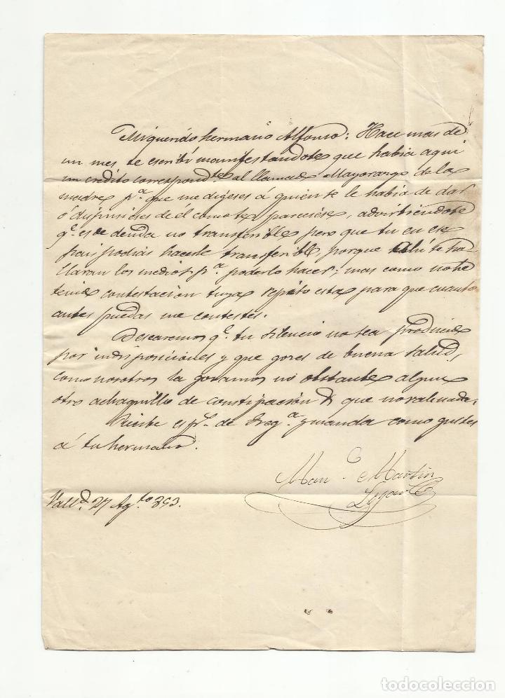 Sellos: circulada y escrita 1853 de valladolid a torrelavega santander marca baeza - Foto 2 - 137132462