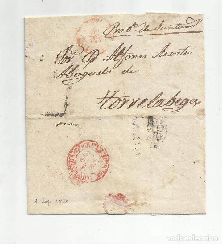 CIRCULADA Y ESCRITA 1853 DE MADRID A TORRELAVEGA SANTANDER MARCA BAEZA (Filatelia - Sellos - Prefilatelia)