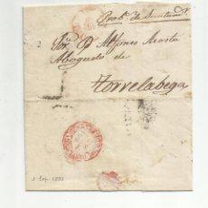 Sellos: CIRCULADA Y ESCRITA 1853 DE MADRID A TORRELAVEGA SANTANDER MARCA BAEZA. Lote 137132914