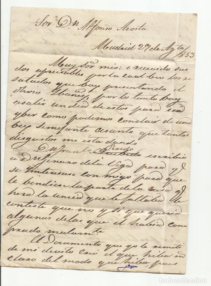 Sellos: circulada y escrita 1853 de madrid a torrelavega santander marca baeza - Foto 2 - 137132914