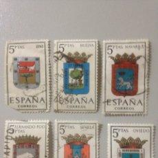 Sellos: LOTE DE SELLOS ESPAÑA CORREOS - 1962-ESCUDOS. Lote 139899373